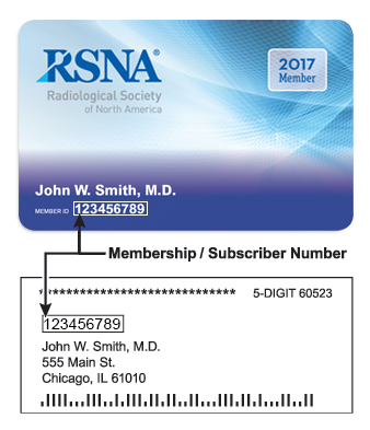 Sample membership card and mailing label